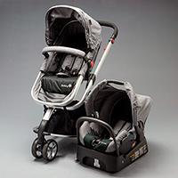 898b0ad8f Carrinho com Bebê Conforto Mobi Travel System - Grey Denin Silver
